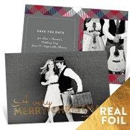Christmas Plaid Save The Date Cards
