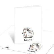 One Sharp Hedgehog Note Cards