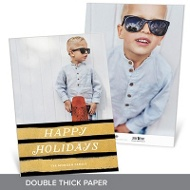 Brushed With Gold Premium Christmas Cards