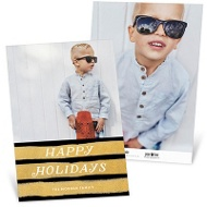 Brushed With Gold Holiday Photo Cards