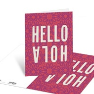 Hello Two Ways Note Cards
