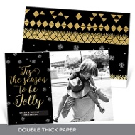 Jolly Faux Foil Premium Christmas Cards