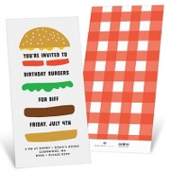 Build A Burger Party Invitations