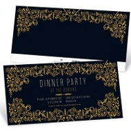 Gold Garden Party Invitations