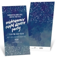 Under The Stars Party Invitations