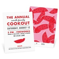Summer Cookout Party Invitations