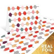 Foil Pom Poms Note Cards