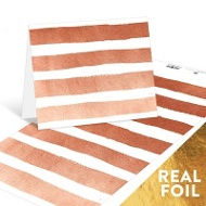 Torn Copper Strips Note Cards