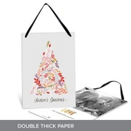Floral Tree Premium Christmas Cards