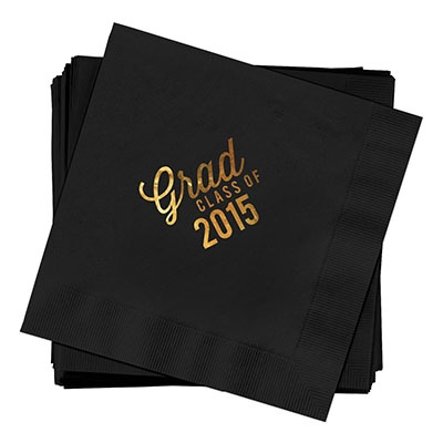 Favorite Photo Gold Foil Luncheon Size Graduation Napkins