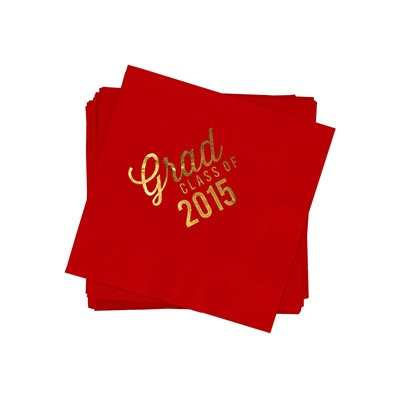 Favorite Photo Gold Foil Beverage Size Graduation Napkins