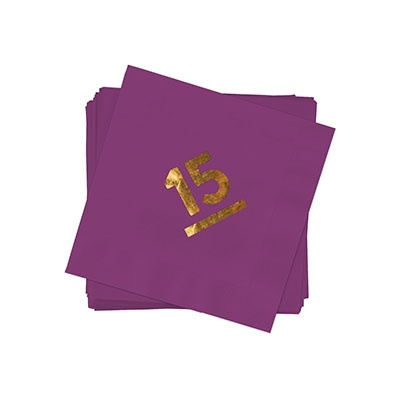 My Big Year Gold Foil Beverage Size Graduation Napkins