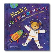 1-2-3 Blast Off With Me Personalized Children's Books