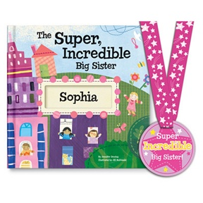 The Super, Incredible Big Sister -- Personalized Children's Books