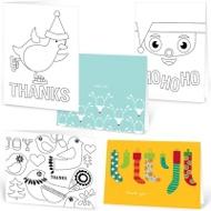 Kids Holiday Cheer --  Note Card Sets