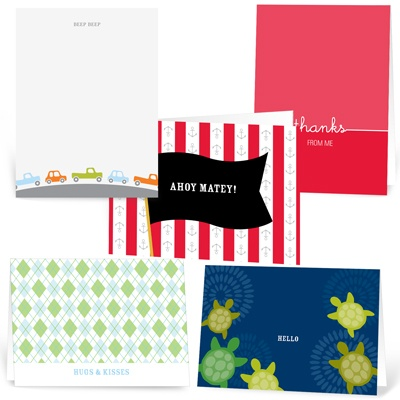 Little Boys, Big Greetings  Note Card Sets