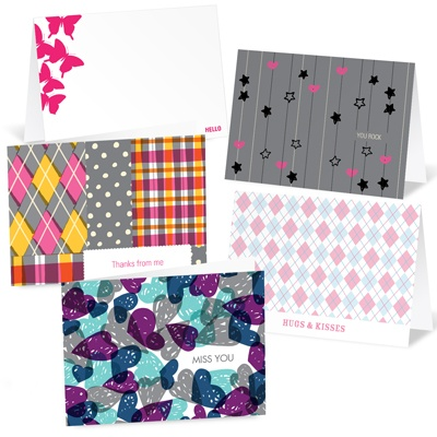Greetings for Girls --  Note Card Sets