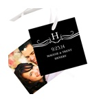 Flourished Monogram -- Wedding Favor Tags