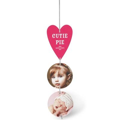 Cutie Pie Ribbon Strand Valentine's Day Photo Cards