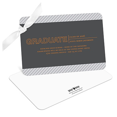 Elegant Angles College Graduation Announcements
