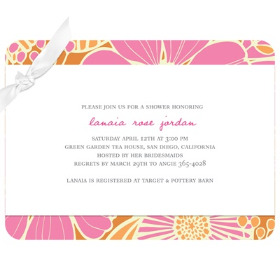 Tropical Twist  Bridal Shower Invitations