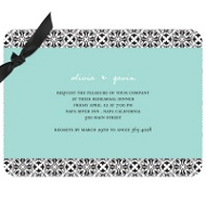 Mirrored Renaissance Design Wedding Rehearsal Dinner Invitations