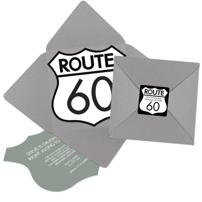 Highway to the Party Pocket Party Invitations