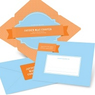 Simply Sweet Self Mailer in Blue