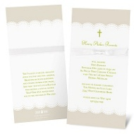 Scallops and Ribbon Baptism Invitations