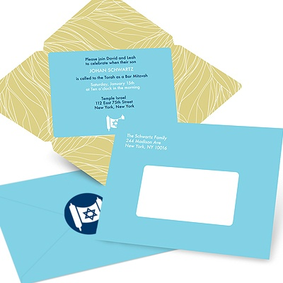 Special Delivery Unique Bar Mitzvah Invitations