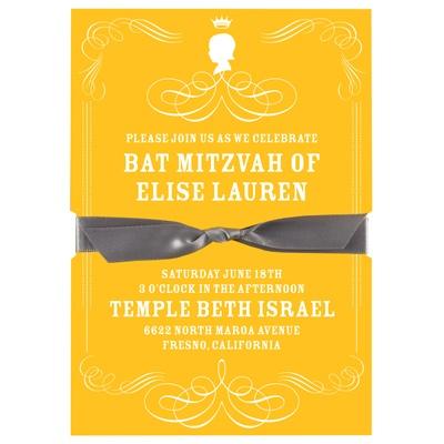 Special Silhouette Elegant Bat Mitzvah Invitations