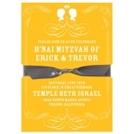 Special Silhouettes B'nai Mitzvah Invitations