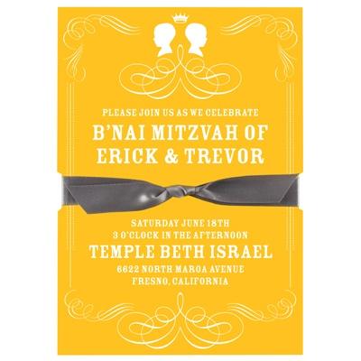 Special Silhouettes B'nai Mitzvah Invitations