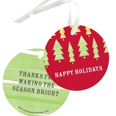 Stylish Christmas Trees Christmas Gift Tags