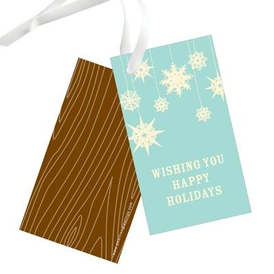 Whimsical Snowflakes Christmas Gift Tags
