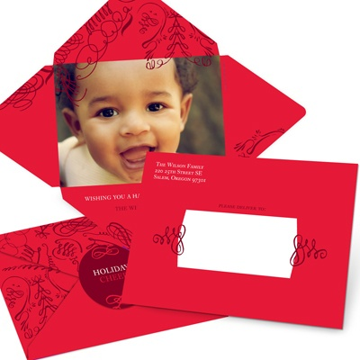 Striking Swirls -- Modern Holiday Photo Cards