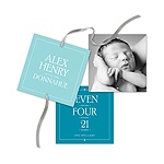 Contemporary Blessing Ribbon Strand -- Baby Boy Announcements
