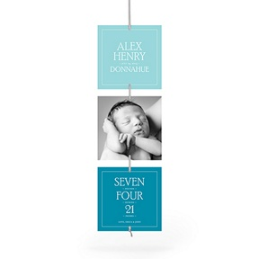 Contemporary Blessing Ribbon Strand -- Birth Announcements