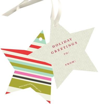 Stars Meet Stripes Christmas Gift Tags