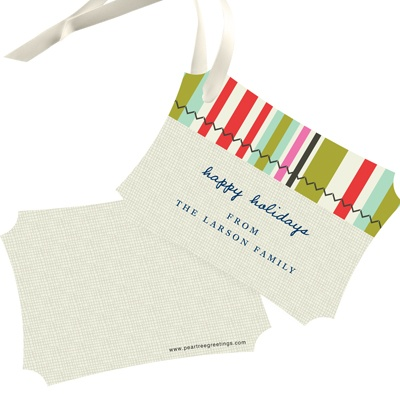 Stripes Meet Vintage Style Christmas Gift Tags