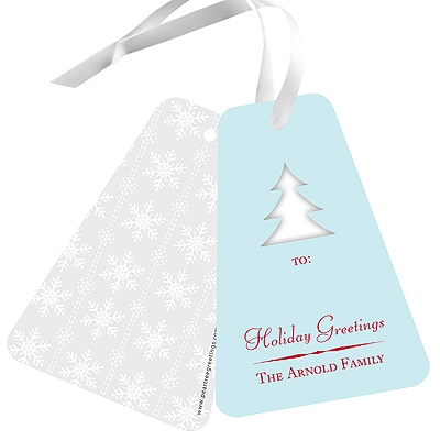 Die-Cut Creation Christmas Gift Tags