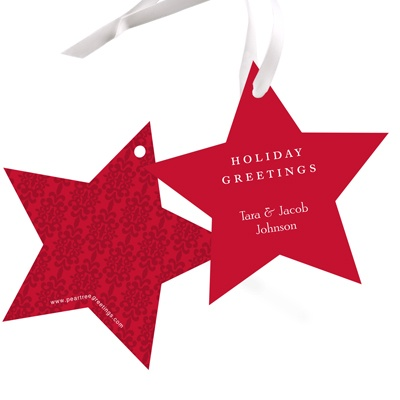 Stylized Star Christmas Gift Tags