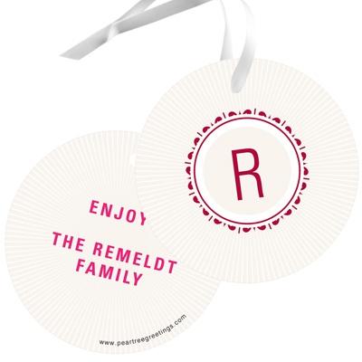 Merry Little Monogram Christmas Gift Tags