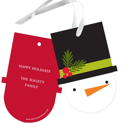 Shaped Snowman - Christmas Gift Tags