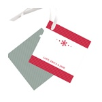 Single Snowflake -- Christmas Gift Tags