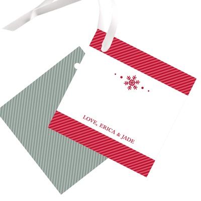 Single Snowflake Christmas Gift Tags