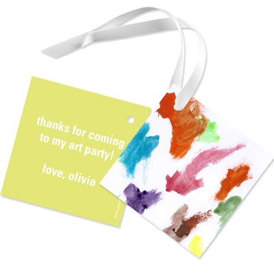 Colorful Artwork Favor Gift Tags