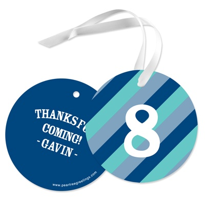 Striped Circle -- Favor Gift Tags