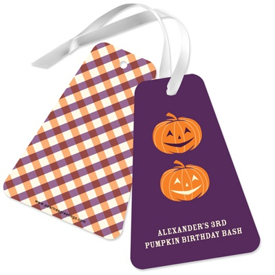 Pumpkins and Parties - Favor Tags