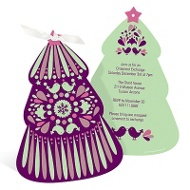 Folk Art Christmas Tree in Purple